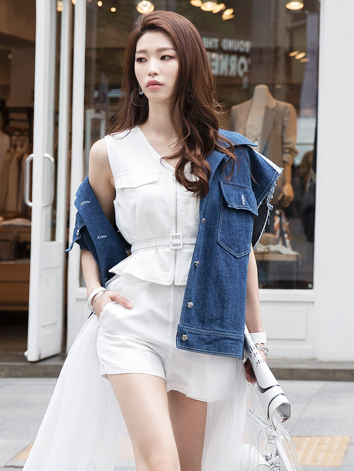 J658 Splendid Denim Wide Vest