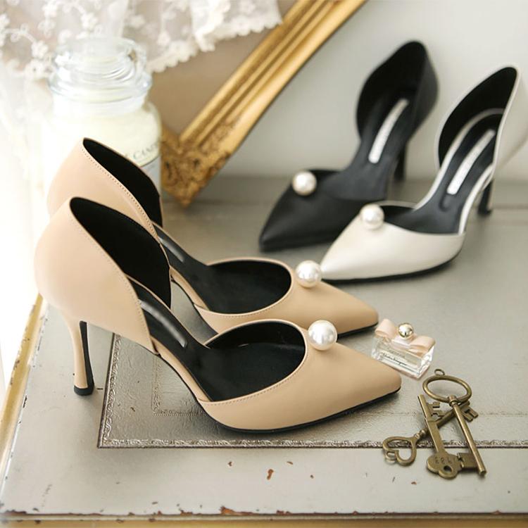 HAR-506 Bandi pearl stiletto heel * HAND MADE *