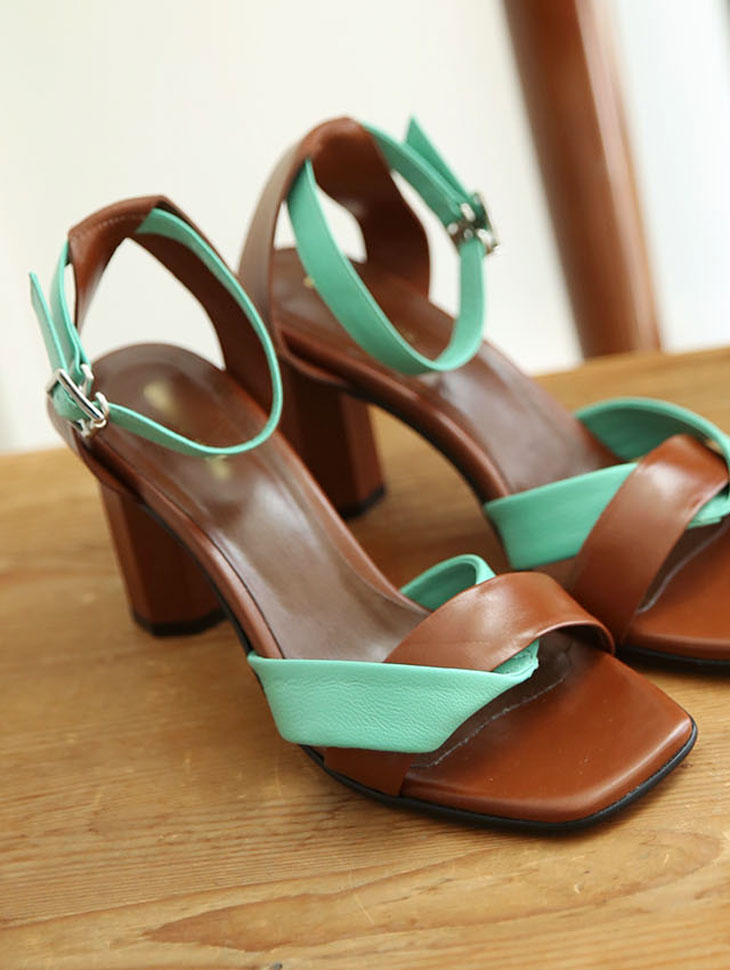 HAR-634 Color Strap Real Leather High heels * HAND MADE *