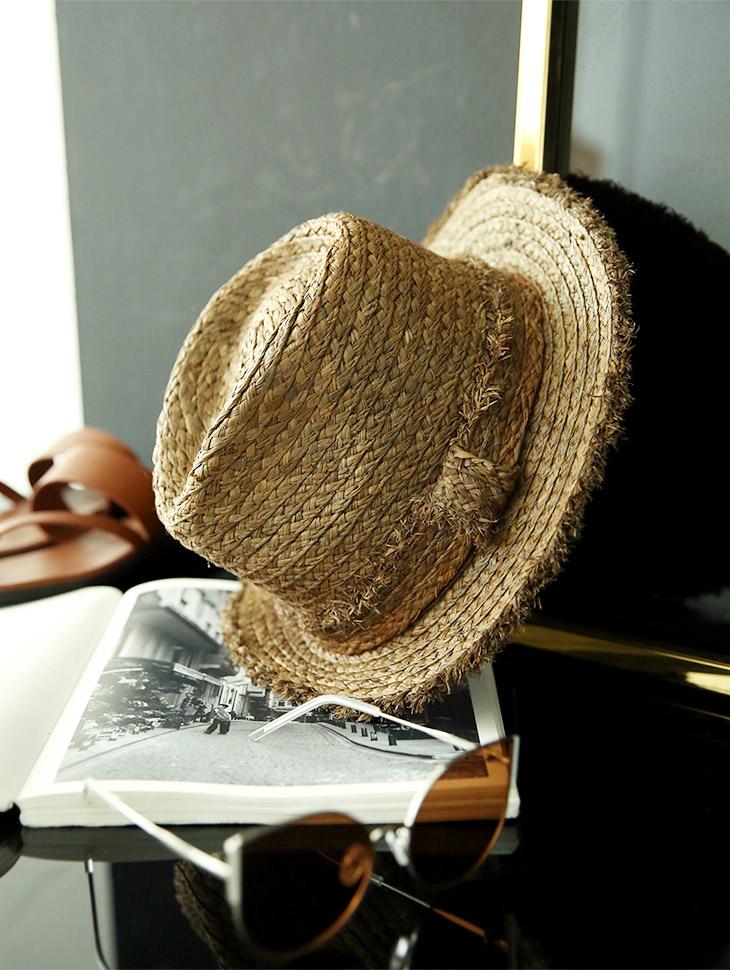 AC-528 Summer Raffia Fedora Hat