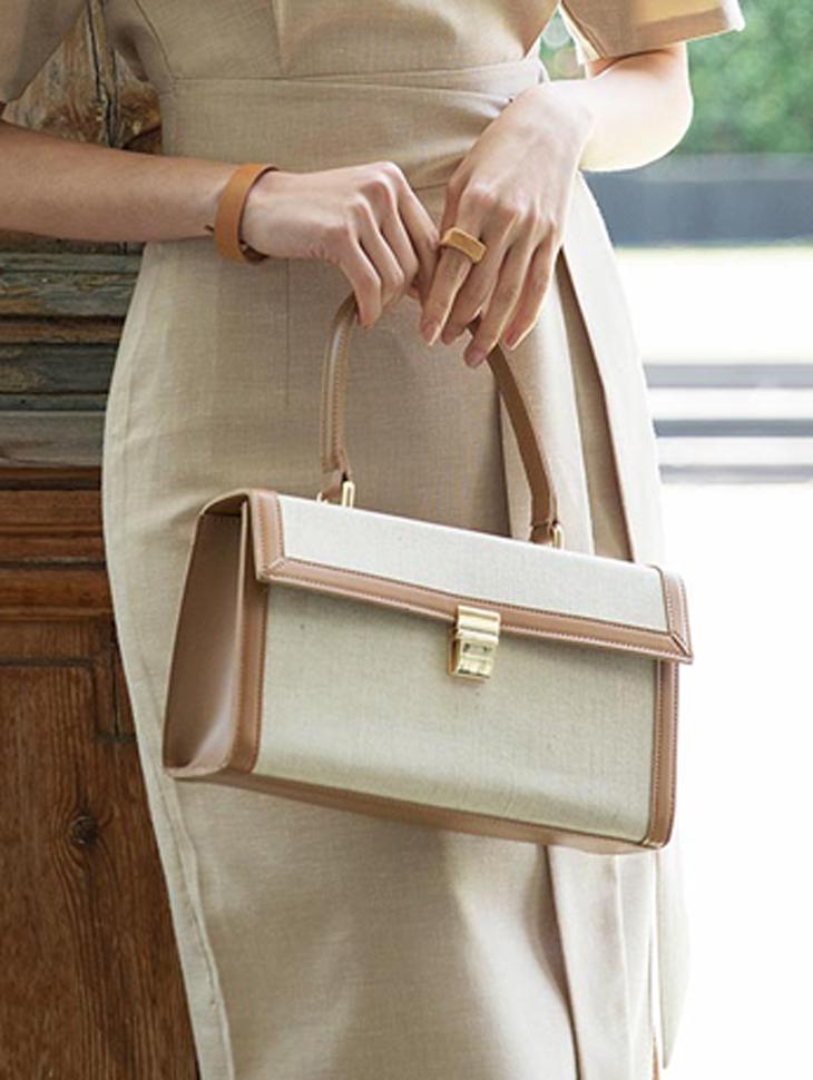 A-1004 out line key point Linen Bag