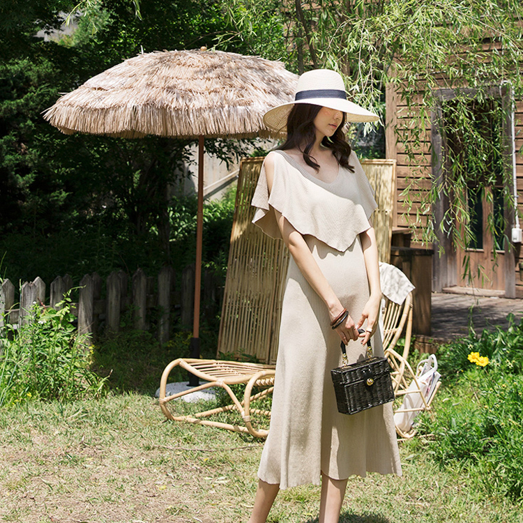 D3813 Celine Shoulder Slit Knit Dress (6reorder)