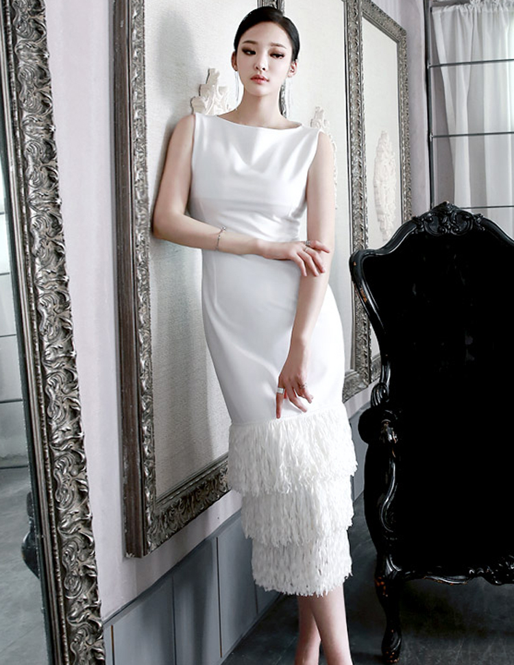 D3314 triple fringe dress (10Round reorder)