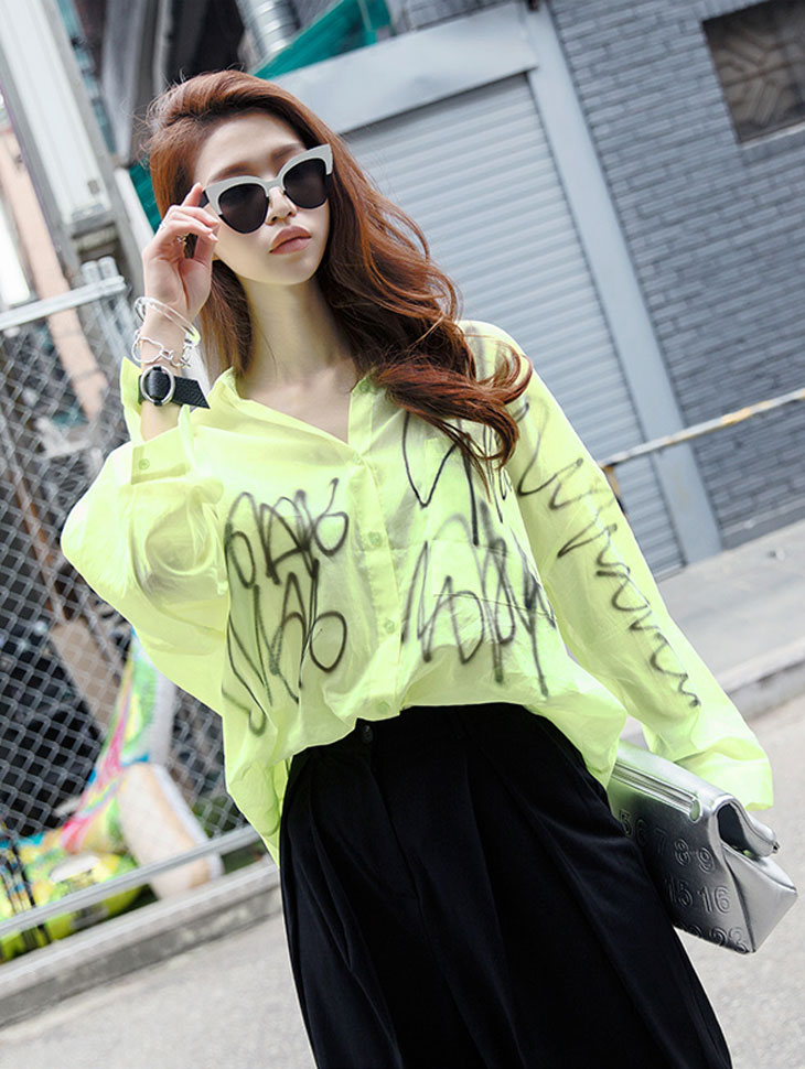 S301 stylish Lettering Shirt (9reorder)