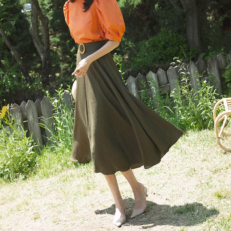 SK1905 Bold pull Skirt (Beltset) (12reorder)