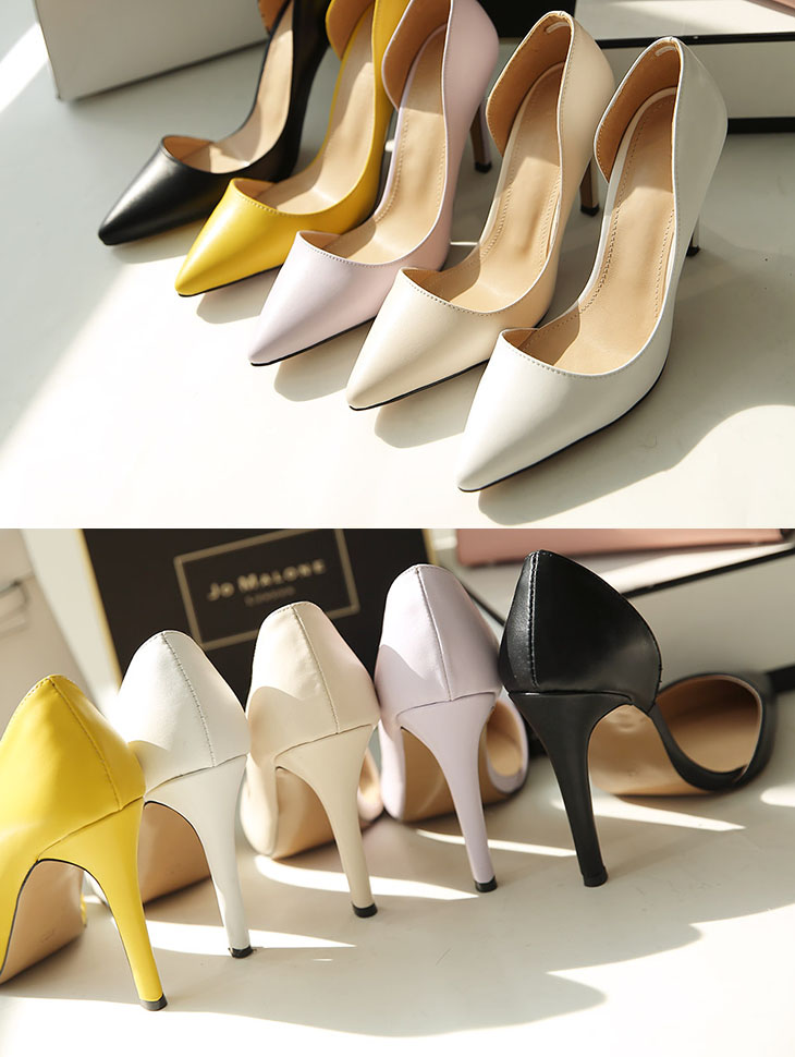AR-2221 Holic Leather Point High heels (24reorder) * SPECIAL SALE *