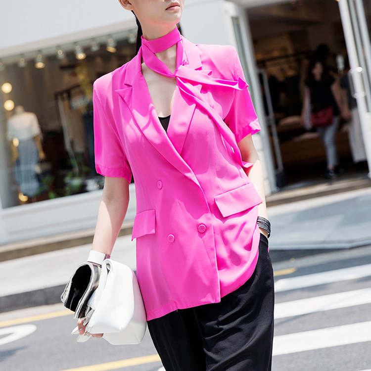 J679 Beat Art See-through Chiffon Jacket (Beltset) (18reorder)