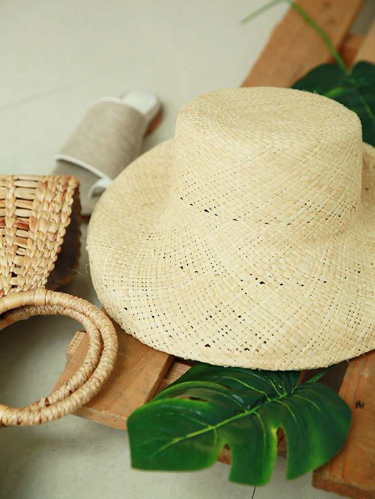 AC-539 Rupee Summer Raffia Hat