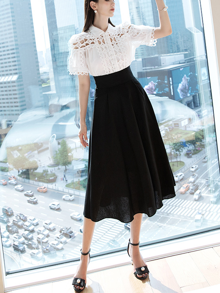 SK1908 FUAS Linen pull Skirt * Lsize Production * (26reorder)