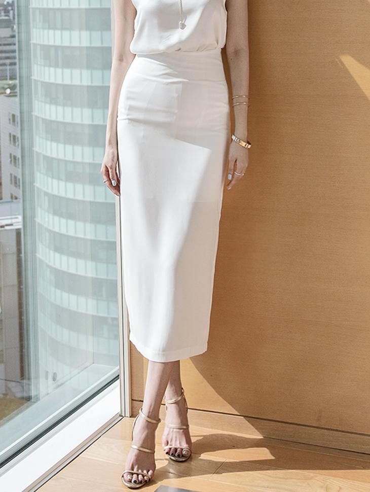 SK1907 Nelsey Long Slim Skirt (6reorder)