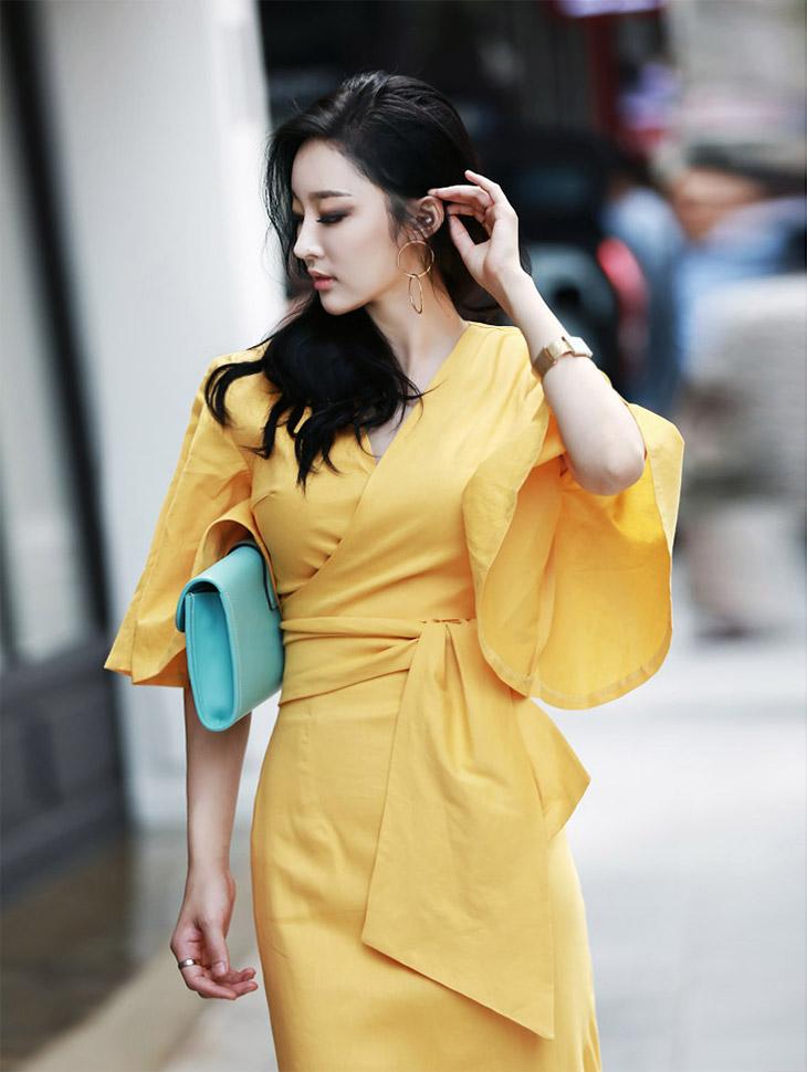 B2009 flare Linen warp blouse (5th REORDER)
