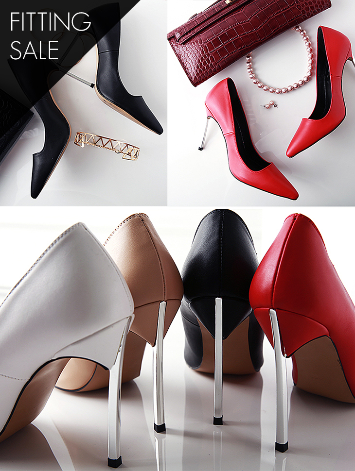 PS1592 Basic Silver Line Stiletto Heel * Fitting Sale *