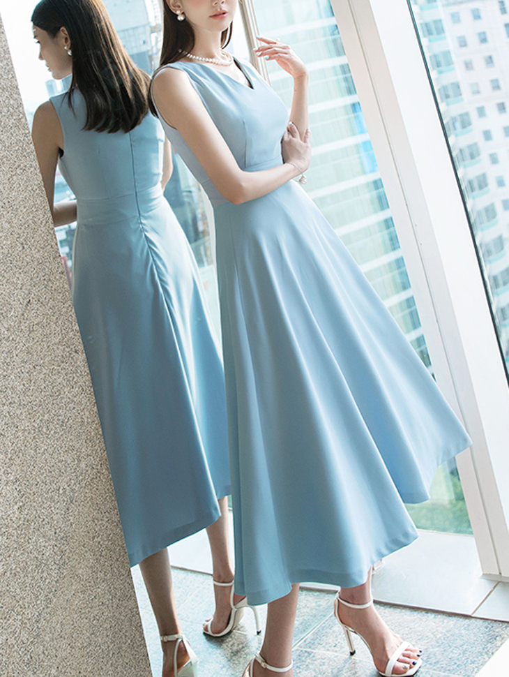 D3825 helina longish pull Dress * L size production * (18th REORDER)