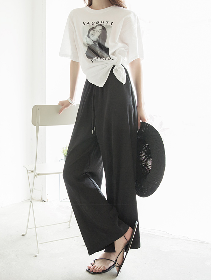 P2085 le edy silky wide Pants (6reorder)