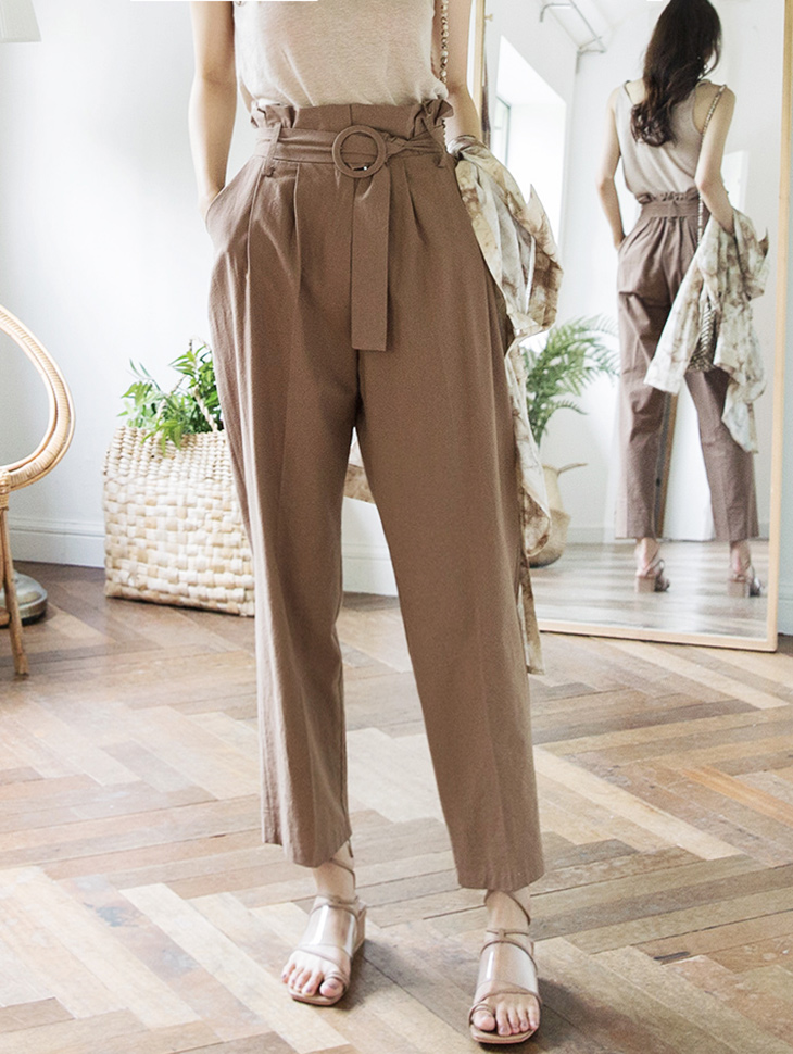 P2093 High Waist Circle Ring Pants (Beltset) (19reorder)