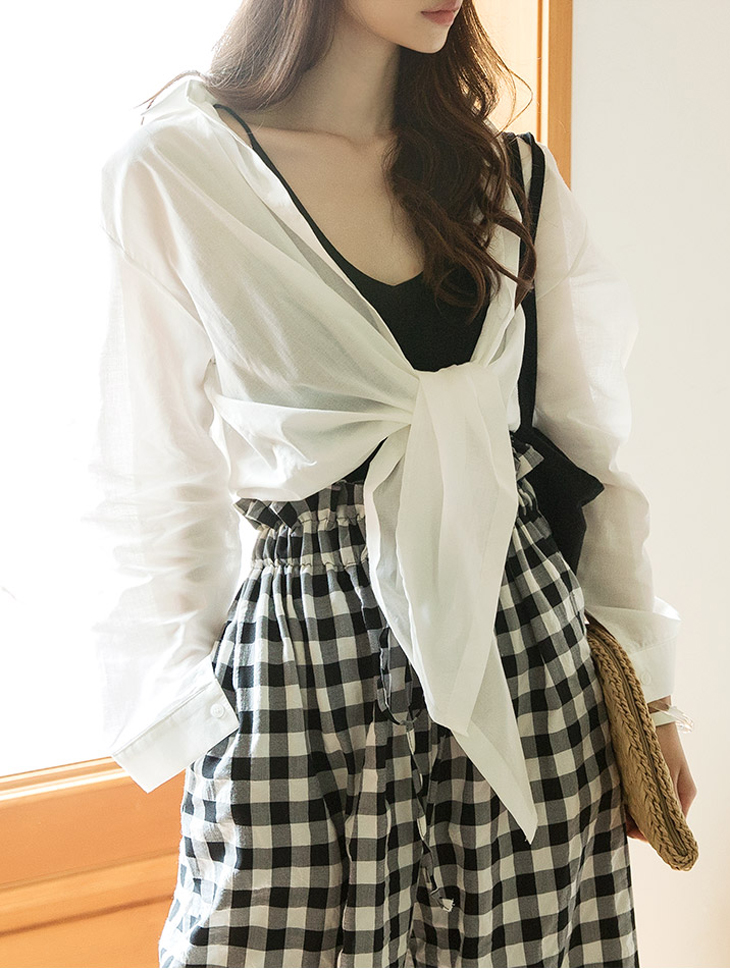 S308 Tied up stylish Shirt (32th REORDER)