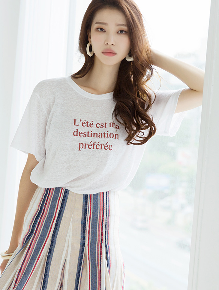 E2027 Tenshi Linen Lettering Top (9th REORDER)