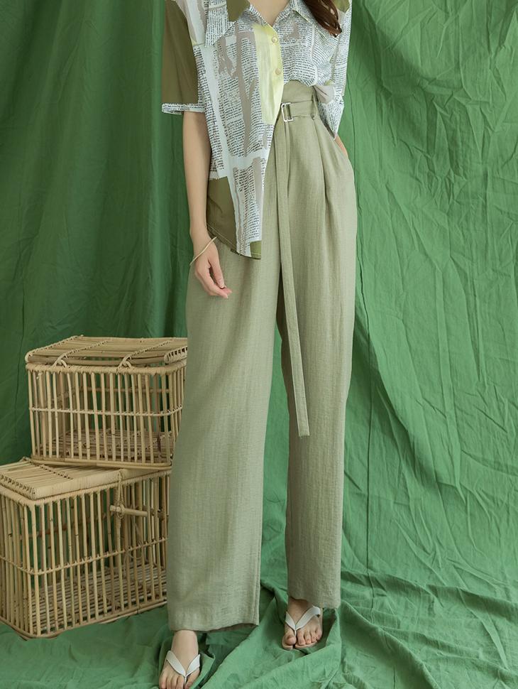 P2104 Encho High Waist Pants (Belt set)