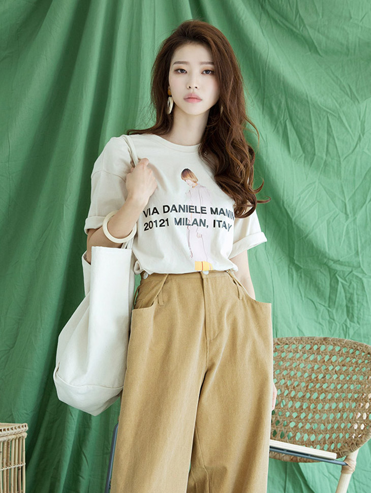 E2015 Trench Woman Printing Top