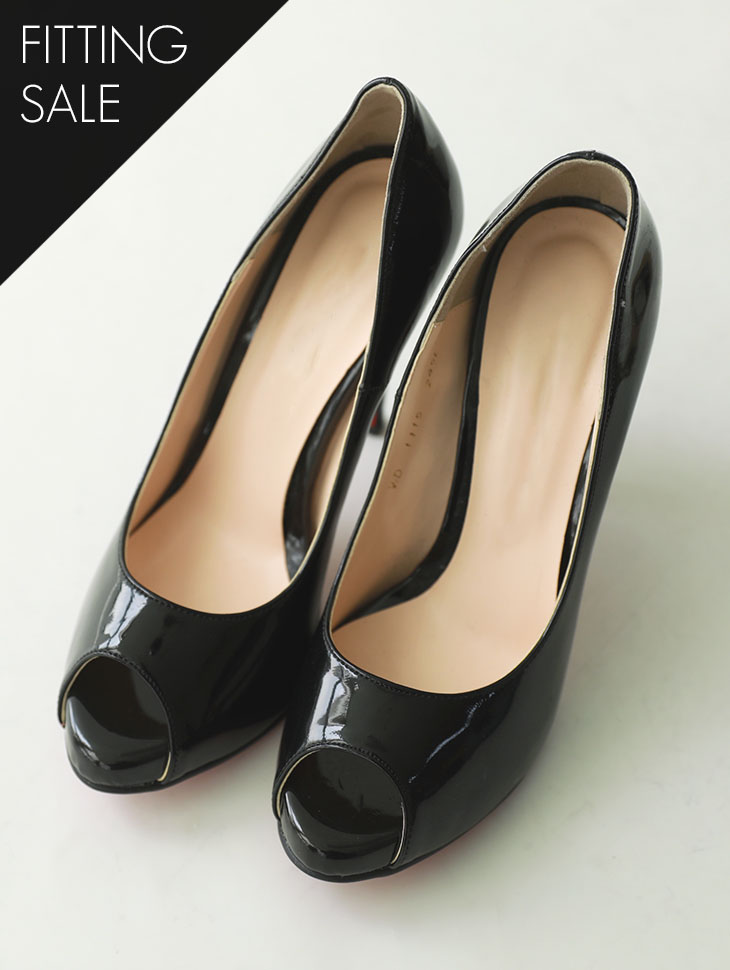 PS1583 Glossy open-heeled high heels * Fitting sale *