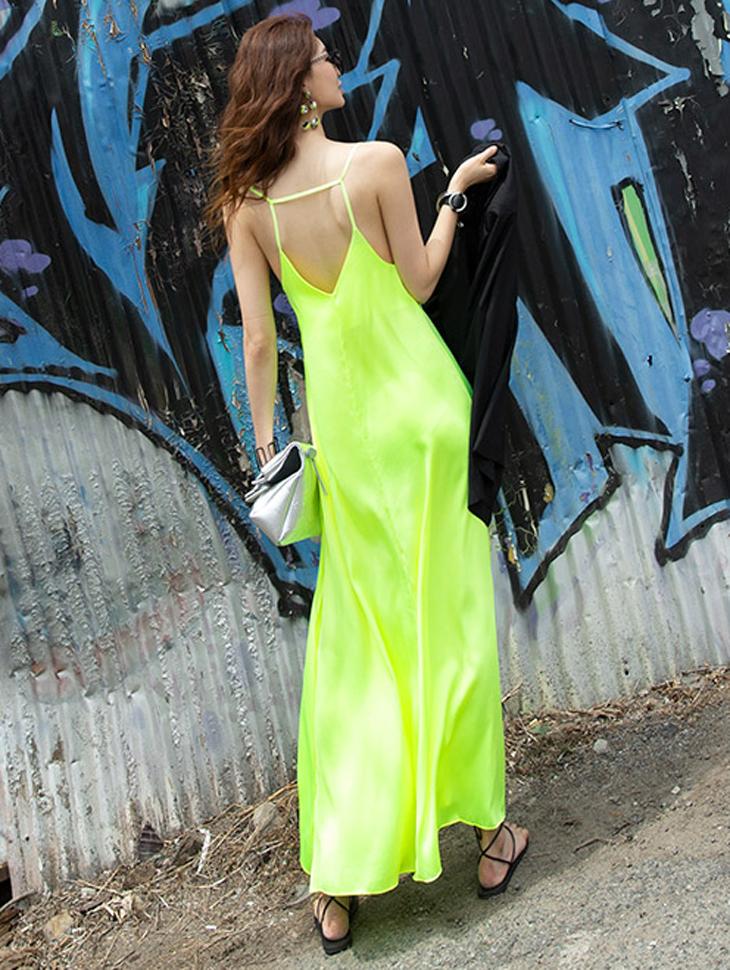 D3810 Back-Line Cross silky Dress(40th REORDER)(제작기간 2주소요, 순차발송예정)