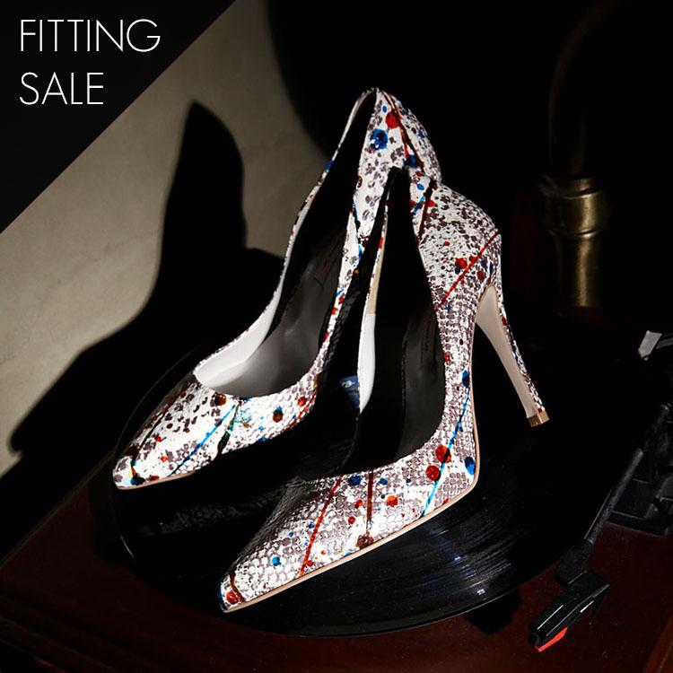 PS1603 Pallet unique Pump heel * HANDMADE * * Fitting sale *