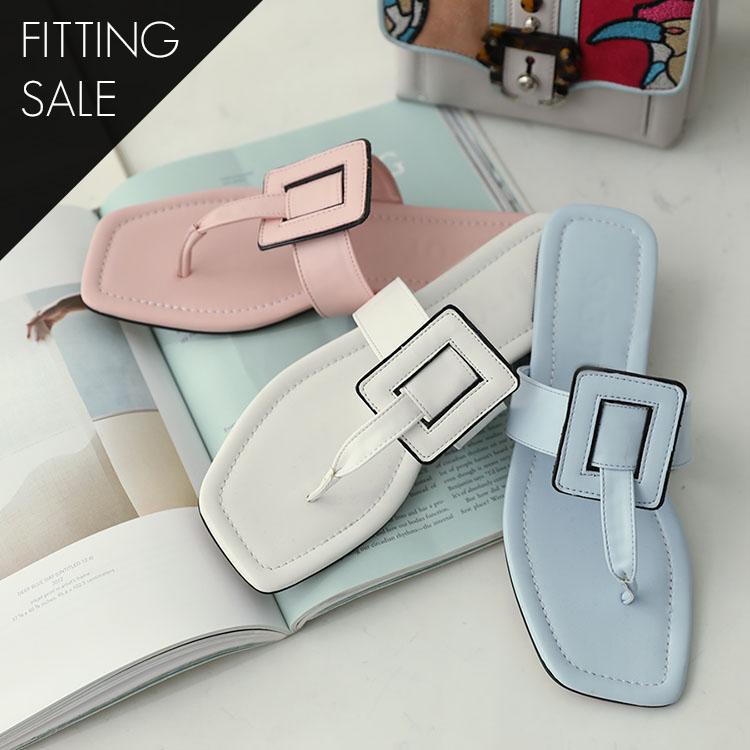 PS1608 Square Line Pastel Flip Flop * Fitting Sale *