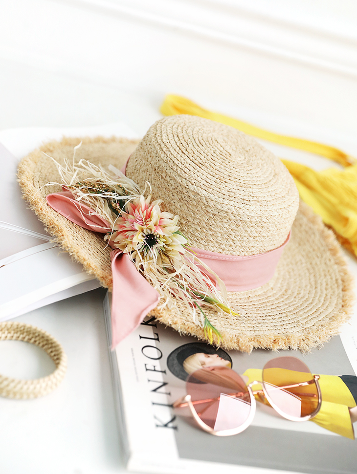 AC-559 Rijia Flower corsage Hat