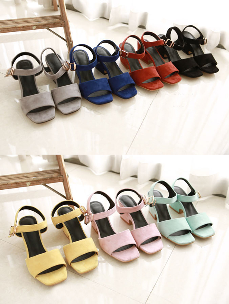 AR-1661 pastel square Sling backs heel