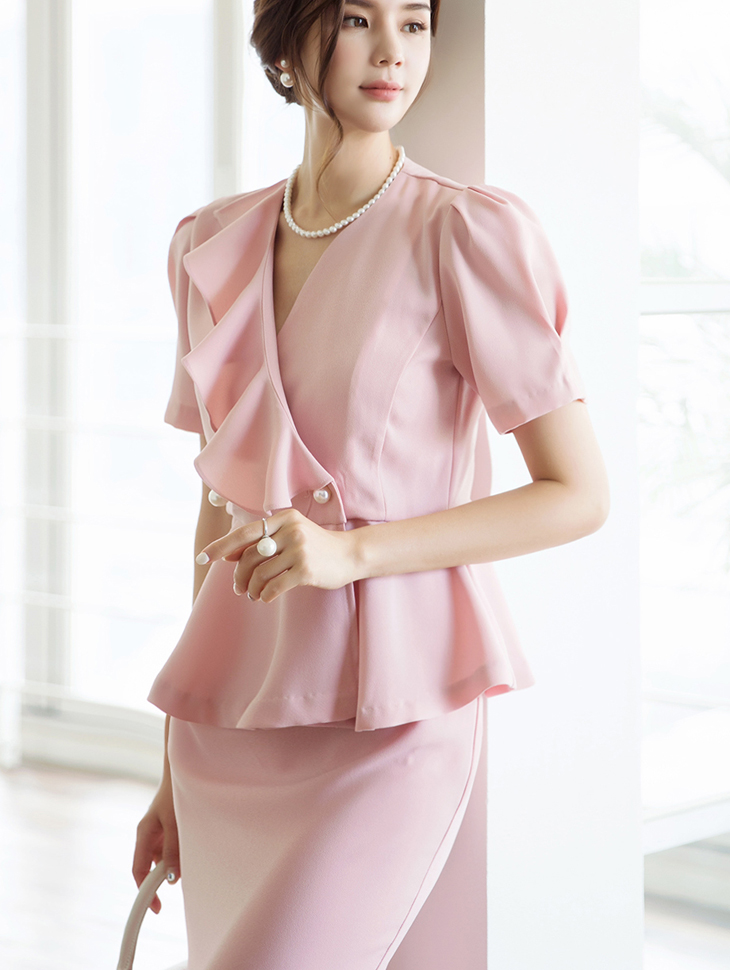 J698 Isabell pearl Frill Jacket