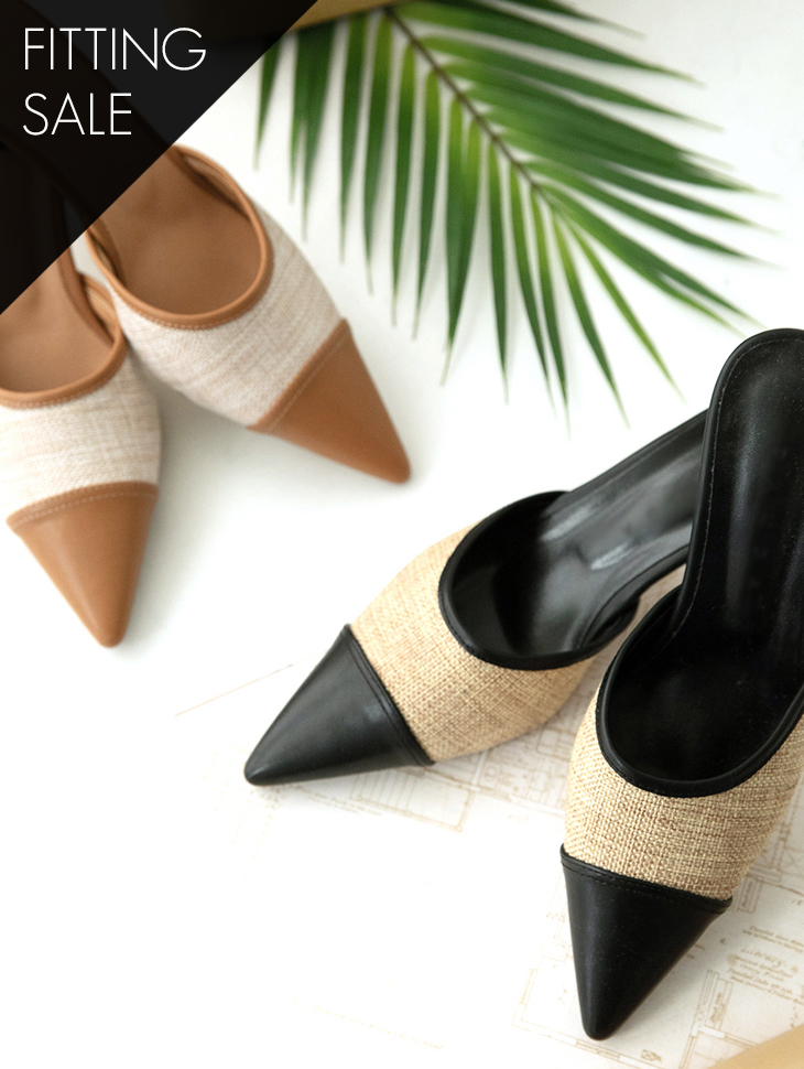 PS1614 Nairin Arrangement of colors Middle heel * Fitting Sale *