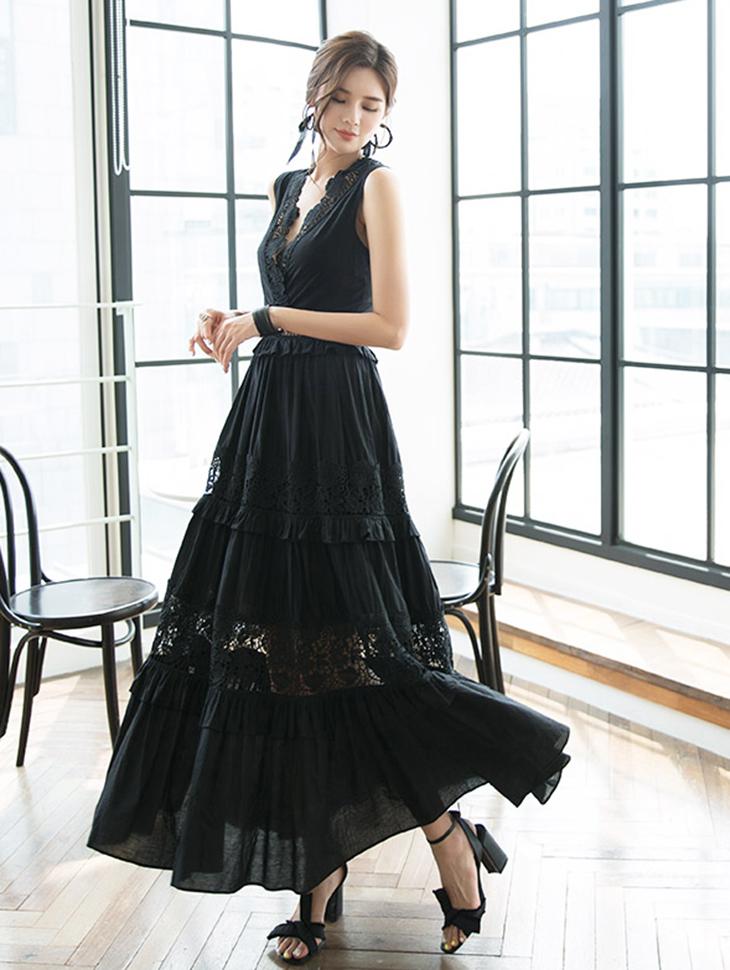 D3868 Stuart Lace Long Dress * L size production * (6th REORDER)