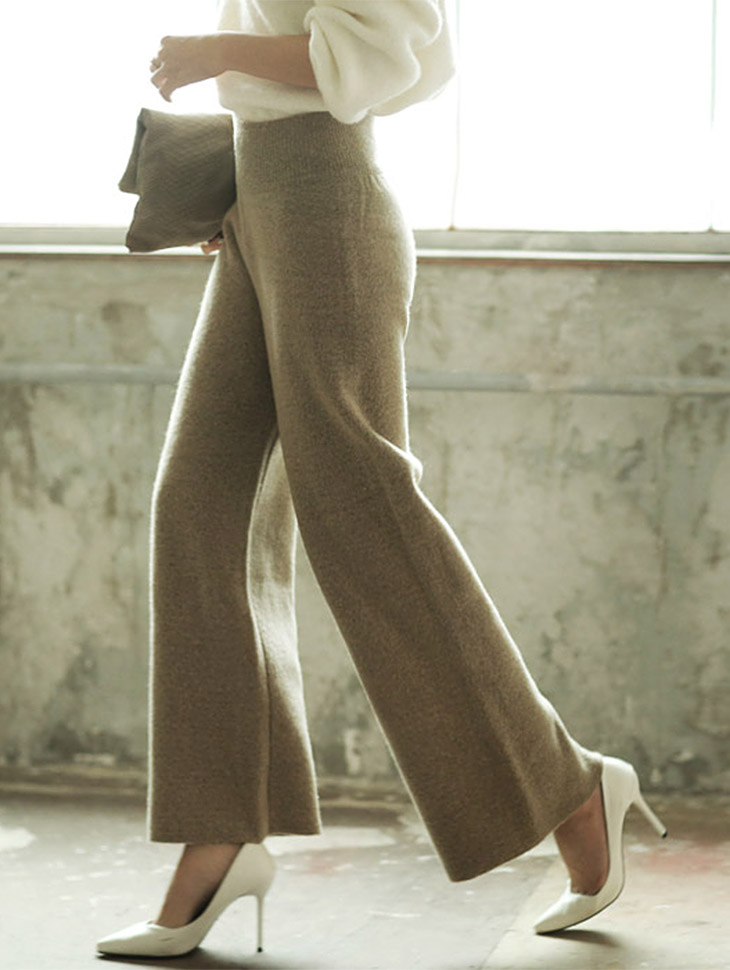 P1171 wide Knit Pants (161th REORDER)