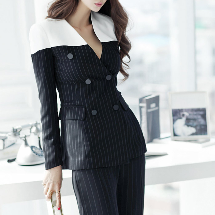 J-3468 Stripe Arrangement of colors chic Jacket * L size production * (93rd REORDER)