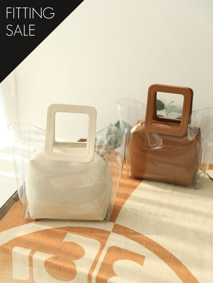 PS1625 Square handle PVC tote bag * Fitting sale *