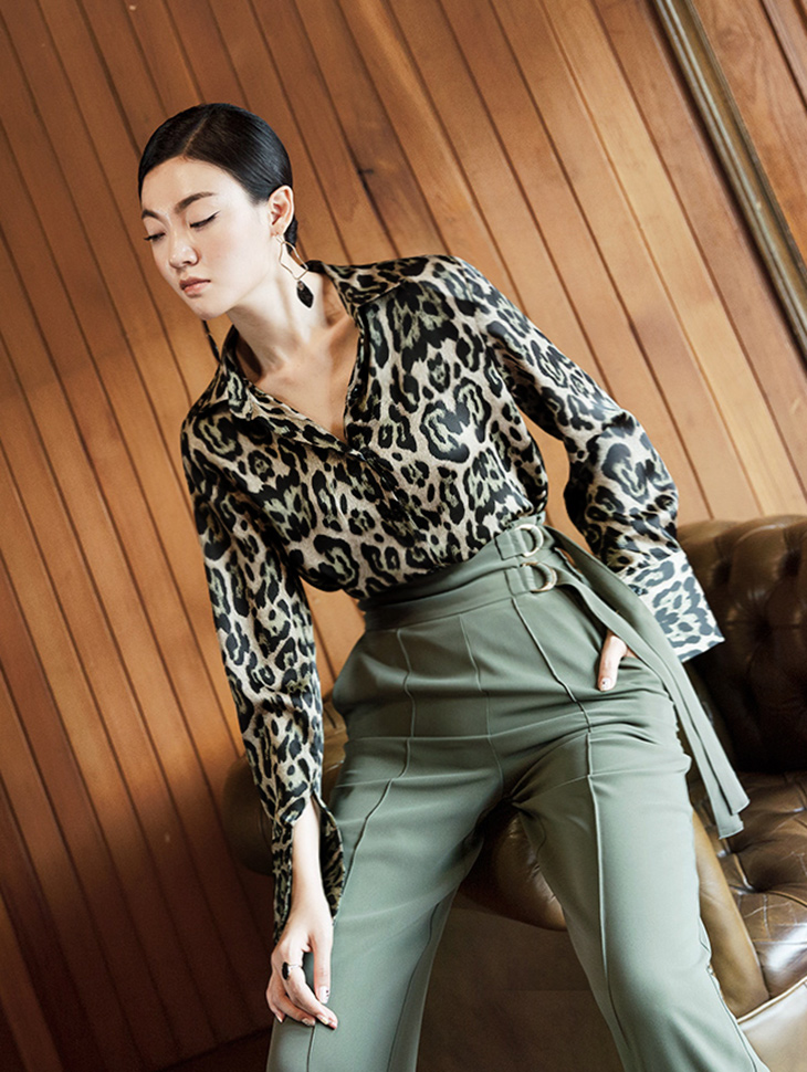 S316 Color mixing Leopard Shirt (3rd REORDER)