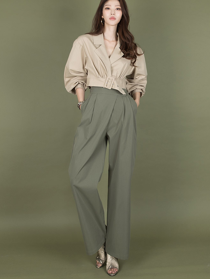 P2125 warp pin tuck wide pants (6th referer)