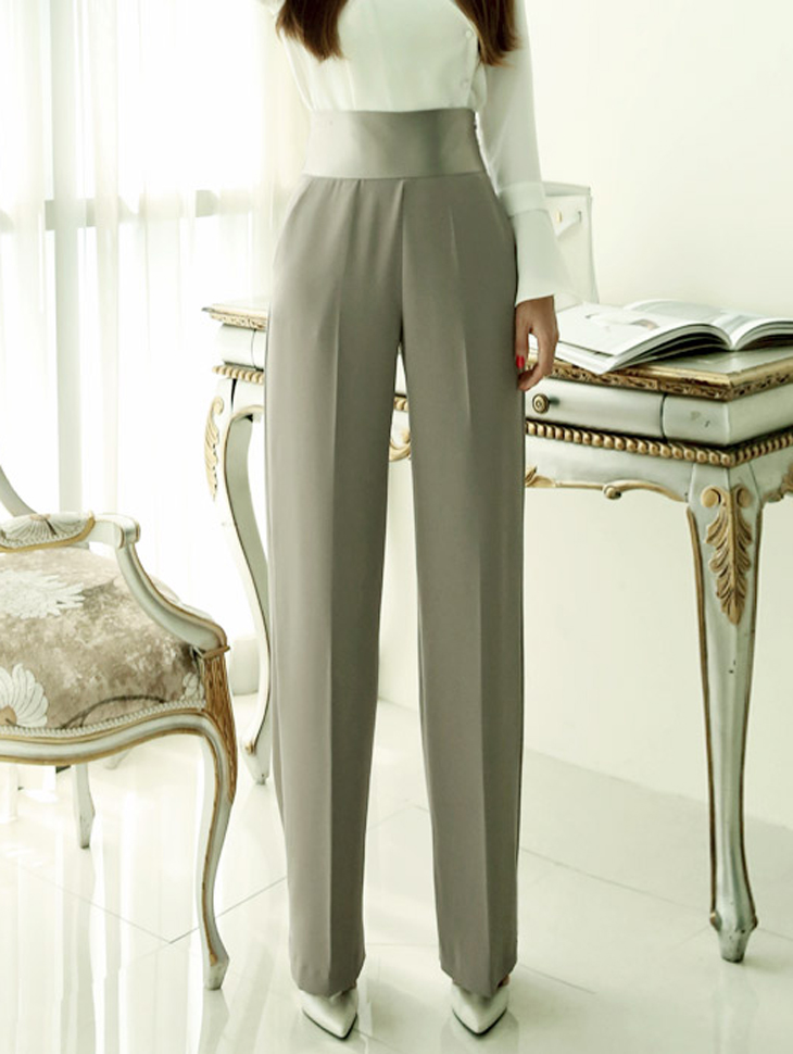P1519 Phenolic Arrangement of colors High Waist wide Slacks (39th REORDER)