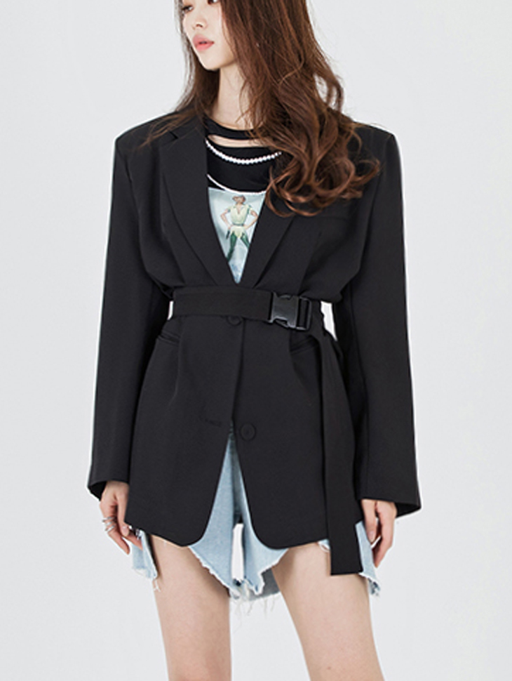 J705 Cretin Over Boxy Jacket (Beltset)
