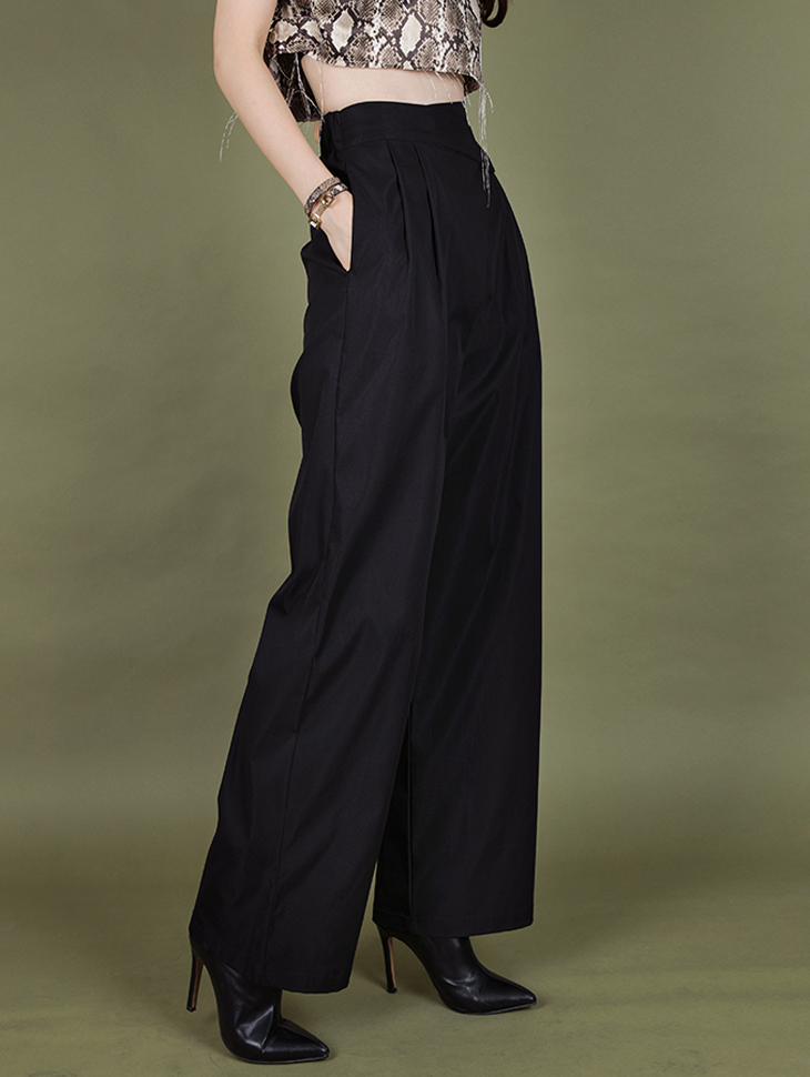 P2125 warp pin tuck wide pants