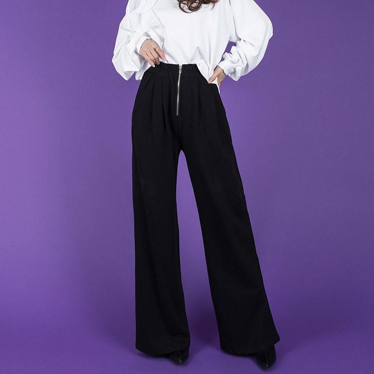 P2126 front zipper point Banding Pants