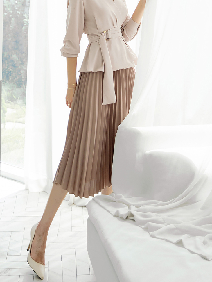 SK1933 Close Daily pleats Skirt