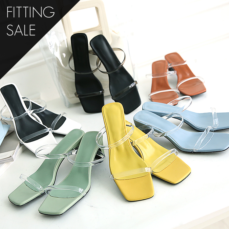 PS1640 Noma Double PVC Strap Heel * Fitting Sale *