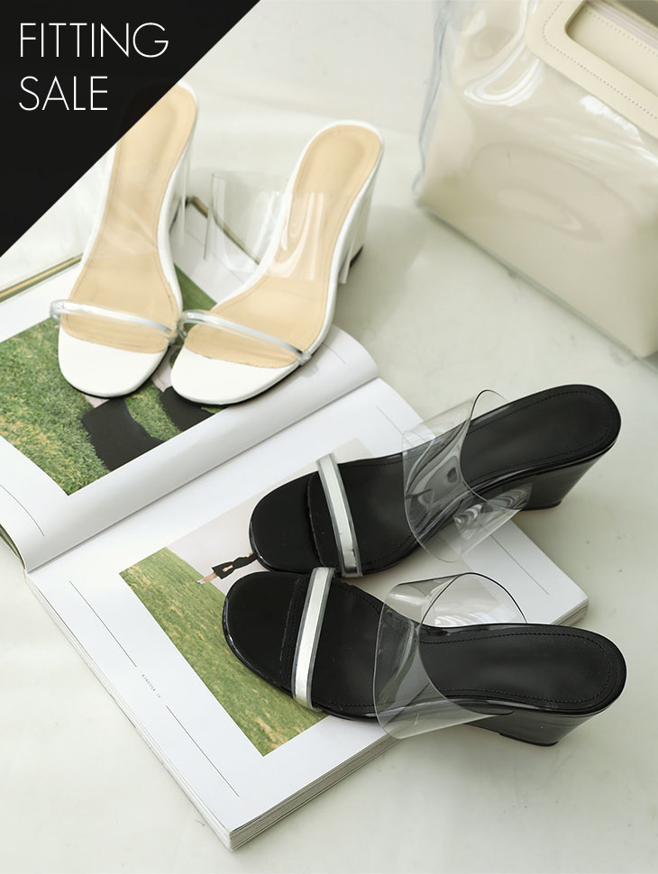 PS1643 Silverline PVC Wedge heel * Fitting Sale *
