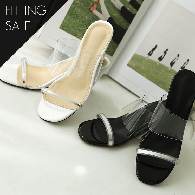 PS1643 Silverline PVC Wedge heel * Fitting Sale *