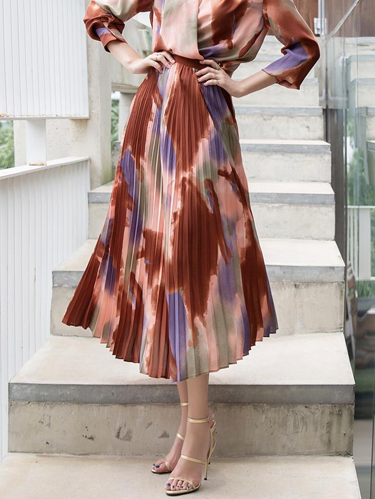 SK1931 Mai pleats Line Skirt