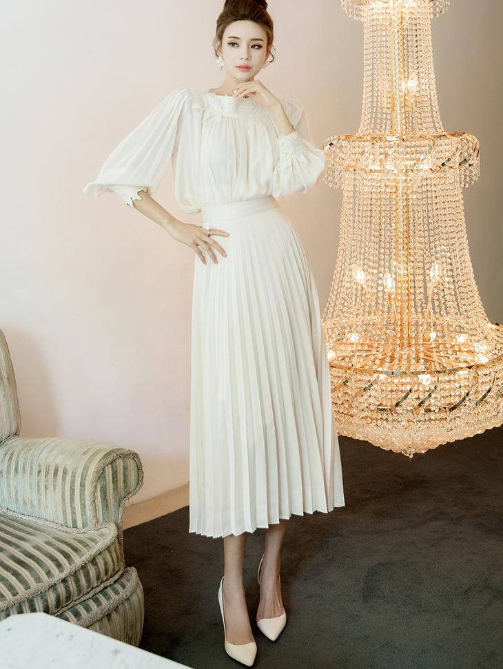 SK1936 daily pleats Skirt
