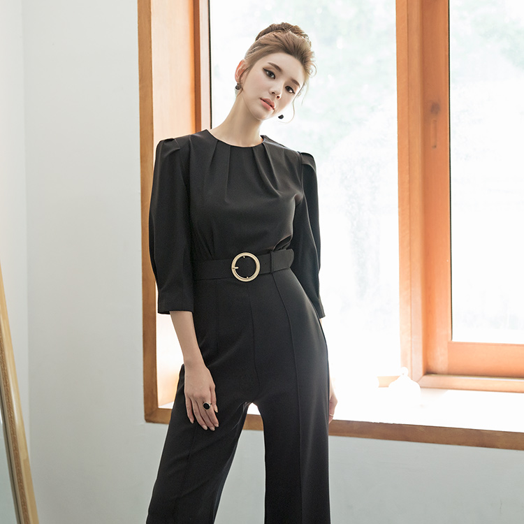 D3895 Dria Shoulder Volume Jumpsuit * L size production * (9th REORDER)