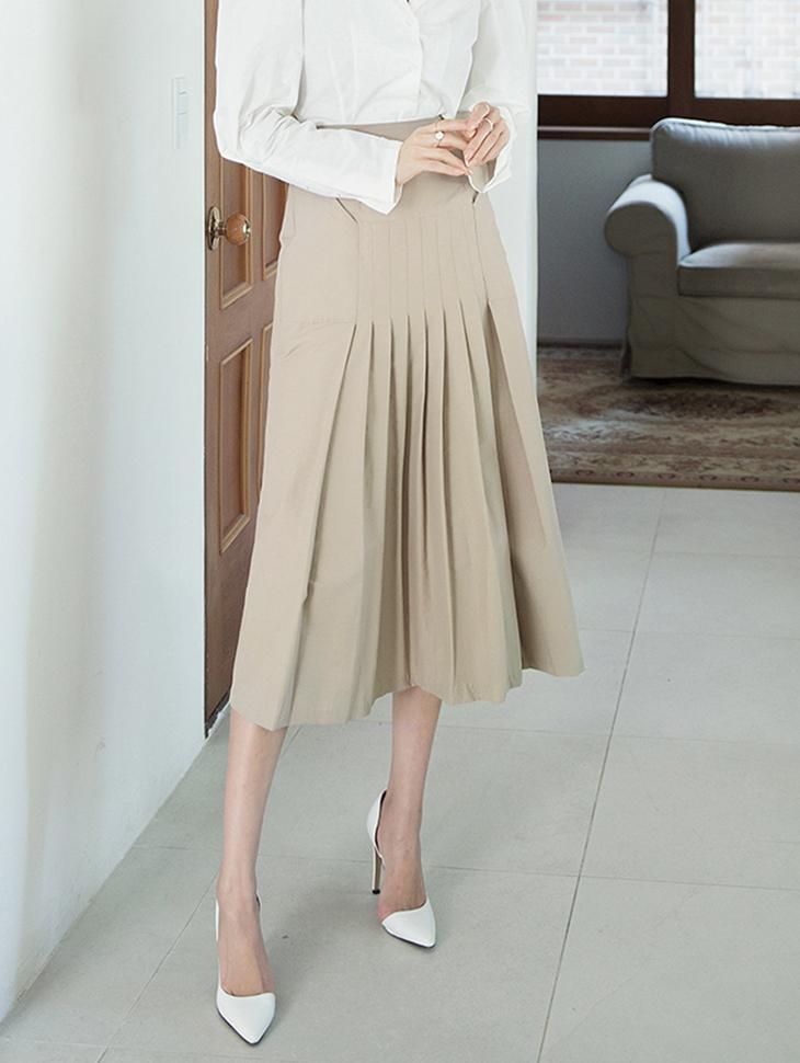 SK1940 Thorin High Waist pin tuck pleats Skirt