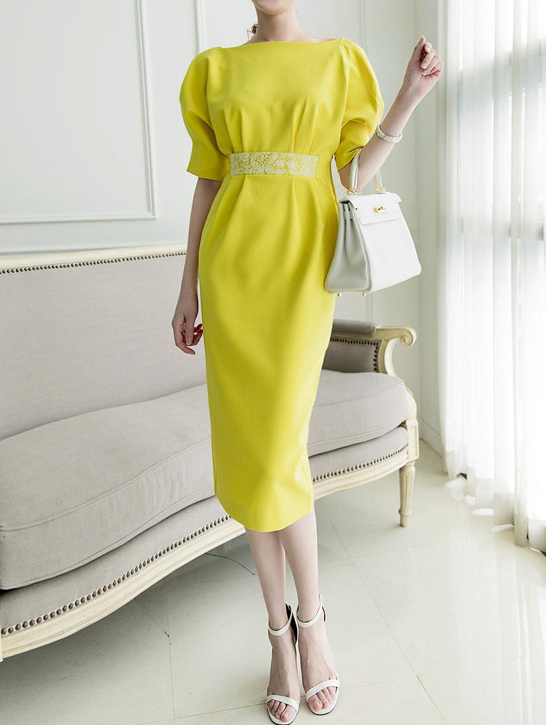 D9018 Mottney Back Line Volume Dress (8reorder)